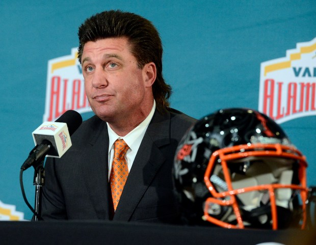 Oklahoma State head football coach, Mike Gundy