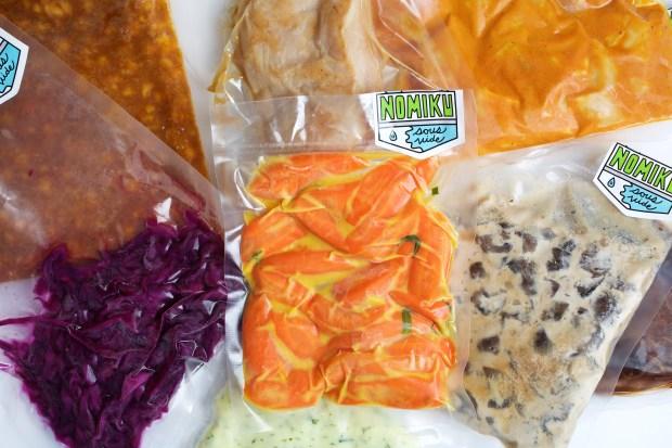 Nomiku frozen prepared foods with embedded ...