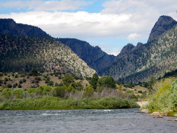 The Colorado River flows through Gore ...