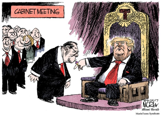 Image result for cartoon of gop kissing trump's' ring
