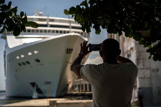 A man takes a photo ...