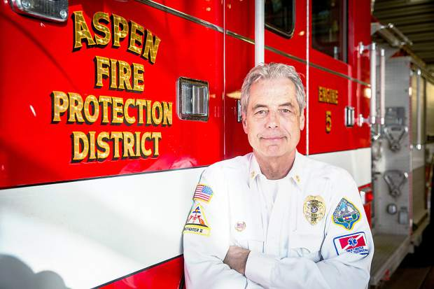 Aspen Fire Chief Rick Balantine's department currently has 33 volunteers but he said his ideal number is 42. His department is looking at hiring paid firefighters.