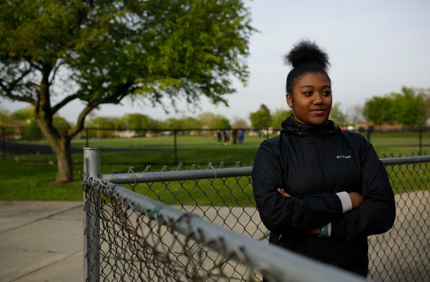 """Jermiya Mitchell, a rising senior at Morgan Park High School, said she hasn't interacted much with her guidance counselor. """"I would like to have a counselor that really wanted to know what I wanted to do after high school and would help me get there,"""" she said. MUST CREDIT: Photo for The Washington Post by Joshua Lott"""