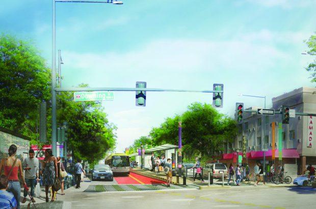 Rendering of BRT system