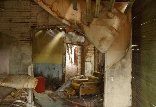 Items still remain inside an abandoned ...