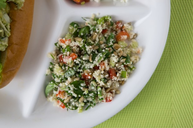 Cauliflower 'Couscous' With Herbs.