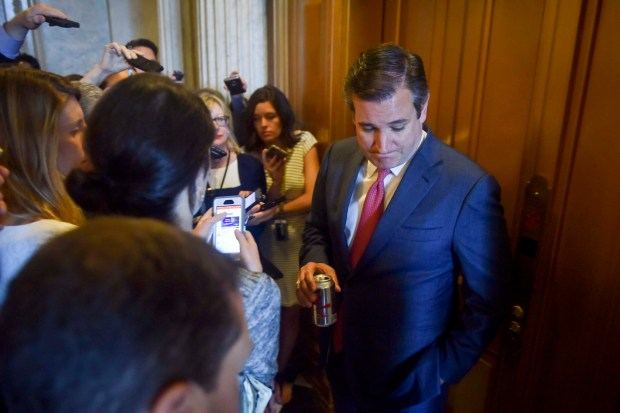 Sen. Ted Cruz, R-Texas, is pursued ...