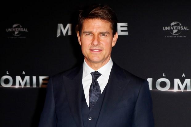 File photo, Tom Cruise poses ...