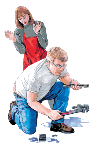 An illustration from a Duluth Trading Company catalog