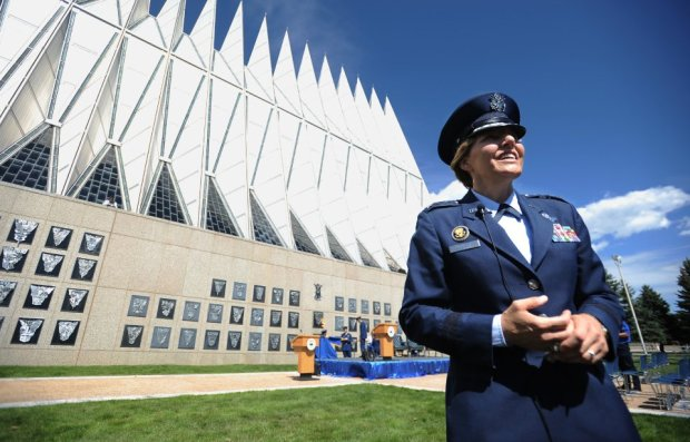 Air Force Academy's first female boss leaving confident