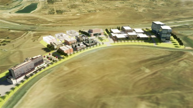 Rendering for the proposed, 1.9 million square-foot Redbarre Digital Media & Technology campus in Parker, which officials say could bring more than 4,000 new jobs to the Front Range.