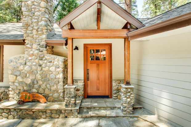 Yosemite National Park: Located on the south fork of the Merced River and surrounded on three sides by national park land, the 1954 cabin was remodeled and expanded in 2011. It is listed at $1,399,000.