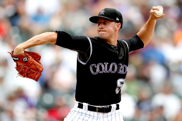 Pitcher Chris Rusin #52 of the ...