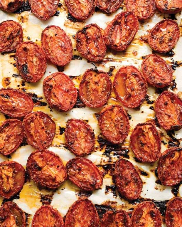 Slow-roasted tomatoes.
