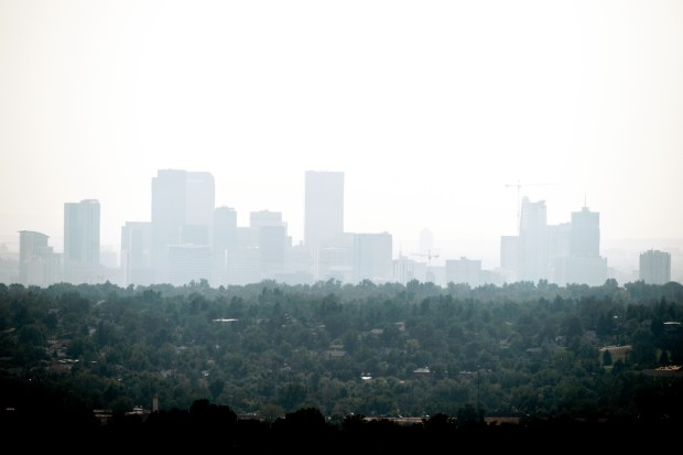 Haze over downtown Denver, CO. ...