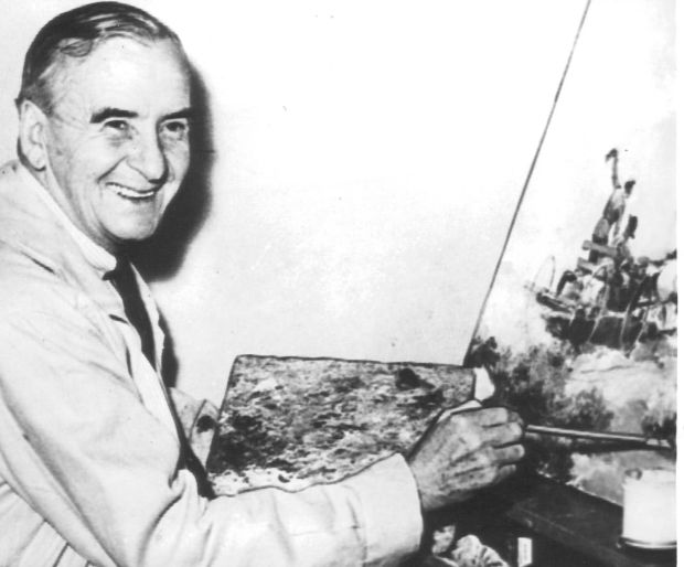 Paul Gregg, who died in 1949, painted more than 2,000 scenes for The Post.