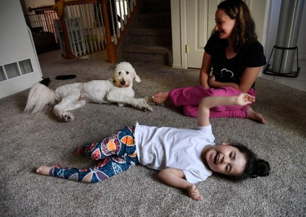 Chloe, 6, who has epilepsy, wiggles ...