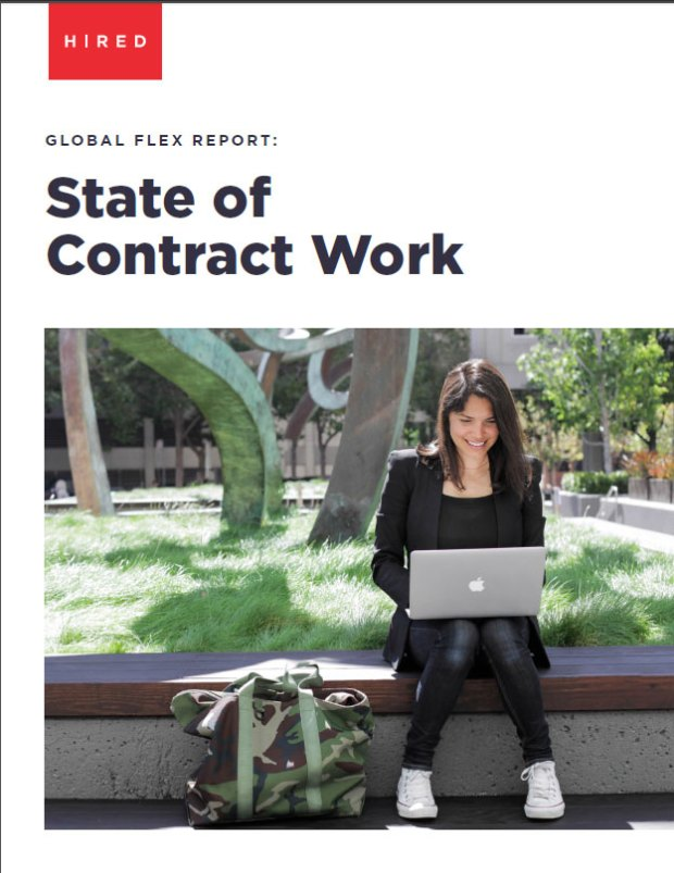 Hired.com's State of Contract Work: Freelance engineers who work 40-hour weeks can make more cash than full-time workers in Denver. The tradeoff? No benefits.