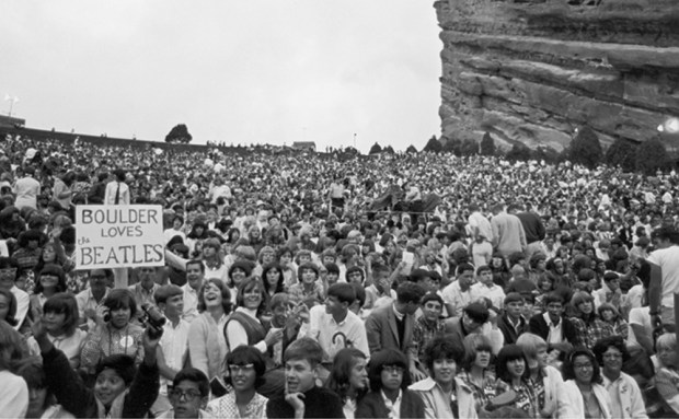 The Beatles play at Red Rocks.