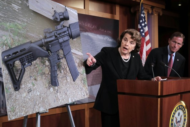 Democratic U.S. Sens. Dianne Feinstein and ...
