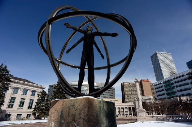 The Christopher Columbus monument in Denver's Civic Center. While the Denver city government has never officially recognized Columbus Day, in 2016 the city designated the second Monday of October as Indigenous Peoples' Day.