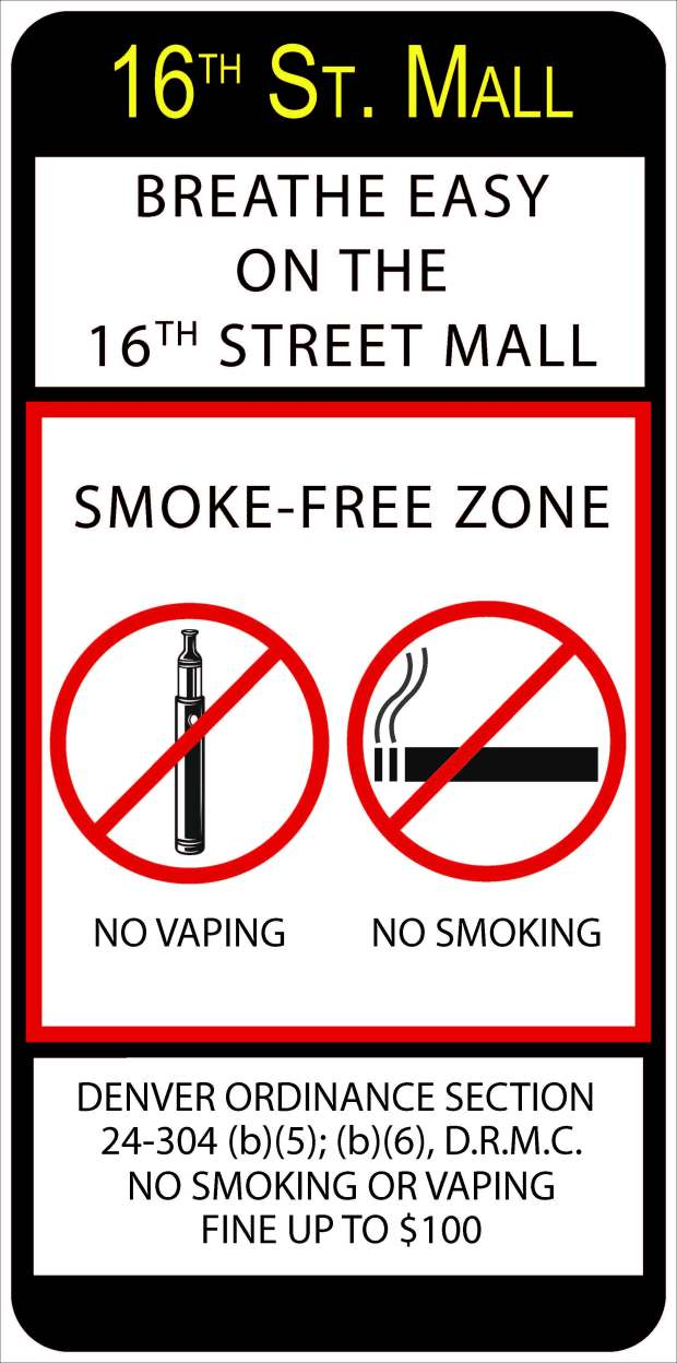 The City of Denver is proposing to make the 16th Street Mall a smoke-free zone. If the ordinance passes, signs will be posted reminding people who smoke or vape in public that they could be fined $100.