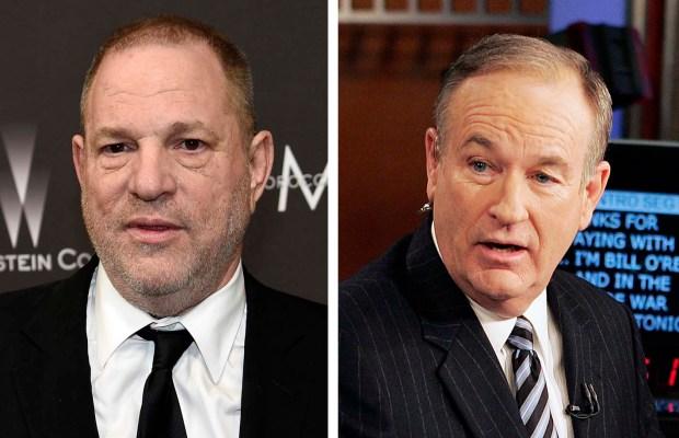 Harvey Weinstein, left, and Bill O'Reilly.