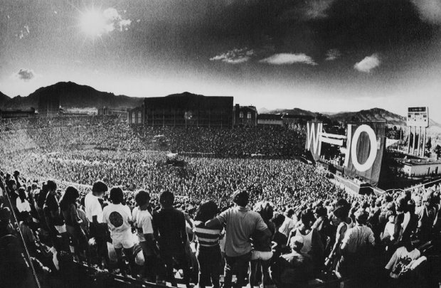 Over 55,000 people journeyed to CU's Folsom Field in Boulder to watch the Who, Jethro Tull and John Cougar perform on Oct. 17, 1982.