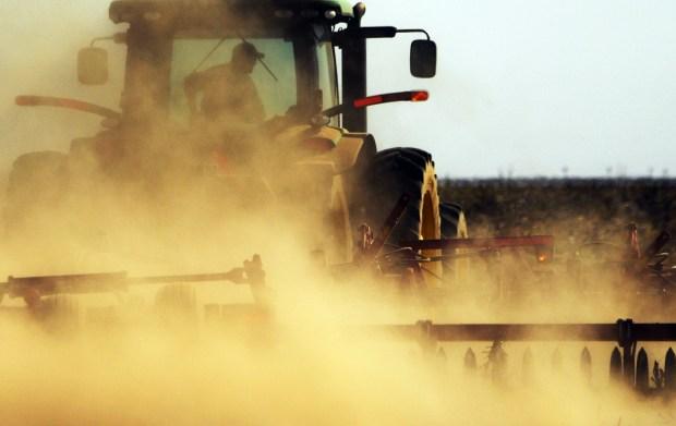 A farmer near Idalia, in Yuma ...