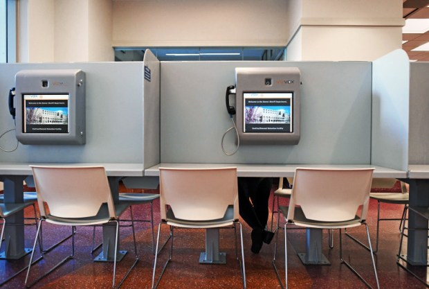 Denver officials are considering a proposal to allow in-person visits at Denver's jails. Currently, inmates can only interact with visitors through a video-conferencing system.