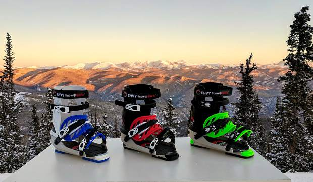 A new company called Envy Snow Sports is about to roll out a line of ski frames, which allow skiers to strap into their bindings while wearing snowboard boots.