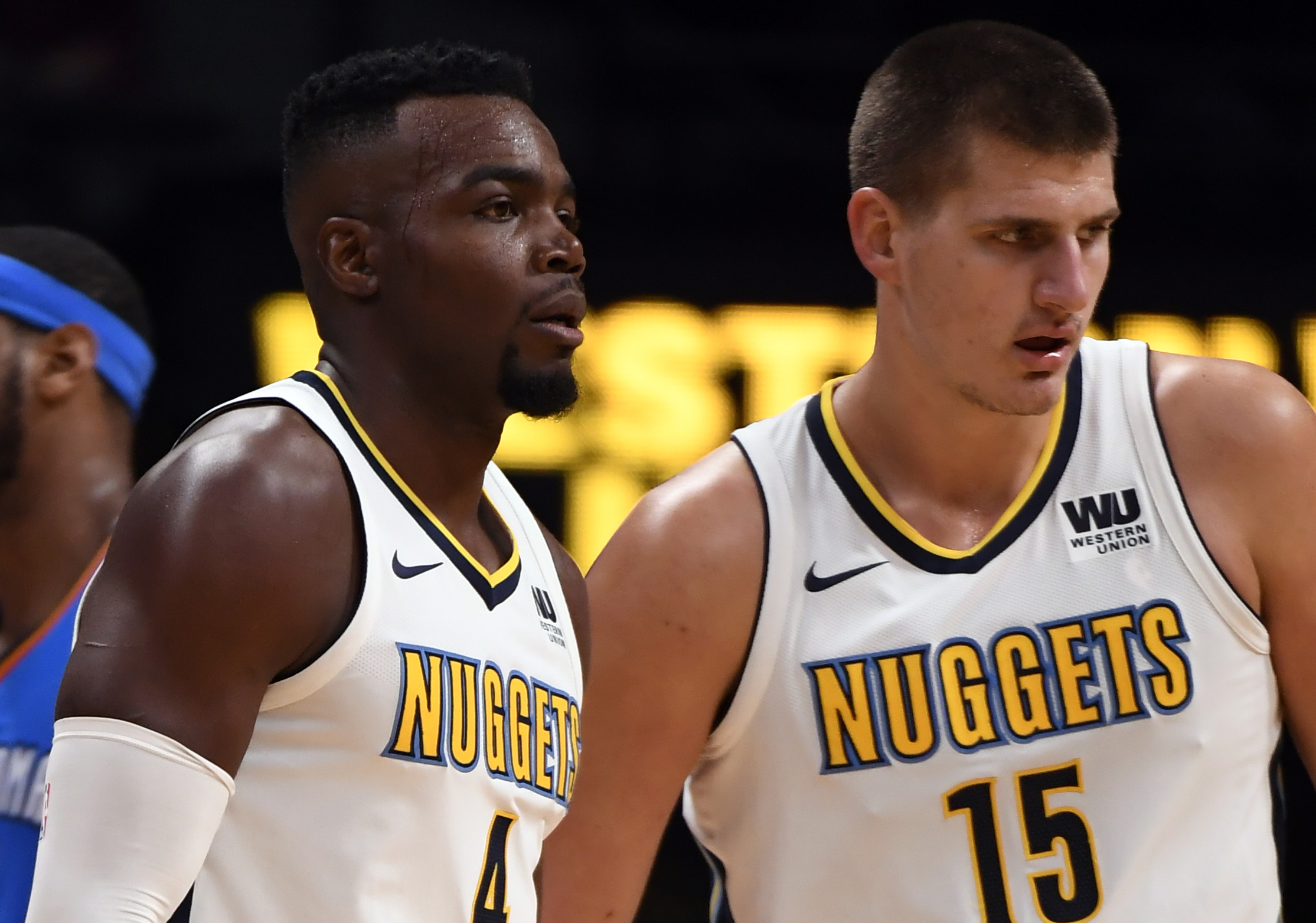 Image result for paul millsap nikola jokic nuggets
