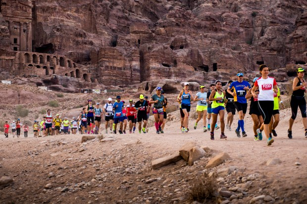 This marathon starts in Petra and passes by myriad tombs and caves and through the lunar-like landscapes of Jordan. The 2018 race takes place Sept. 1.