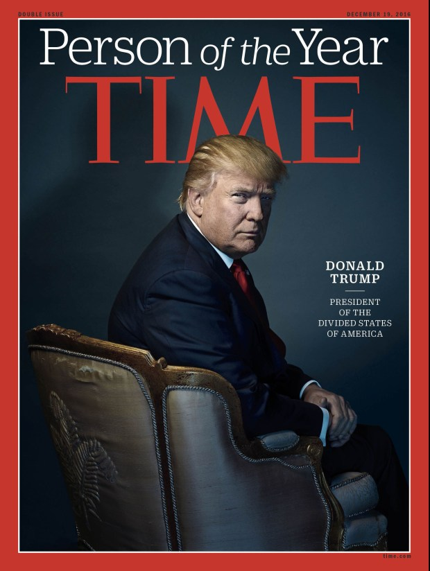 Donald Trump was Time's 2016 Person of the Year. Last week, he said he turned down being given the award again after the magazine asked him for an interview and photo shoot but did not confirm he would be chosen.