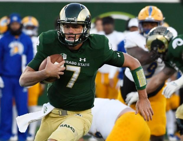 Colorado State Rams quarterback Nick Stevens ...
