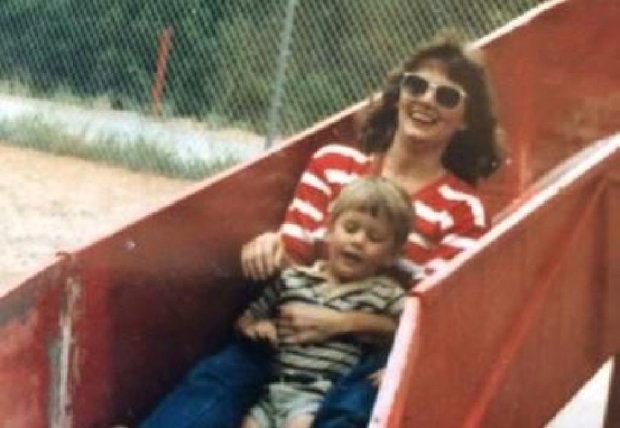 Jarrod Hood pictured with his mother, Dianne Hood.