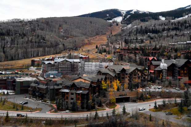 Construction continues on the Limelight Hotel at the base of Snowmass Village on Oct. 29.