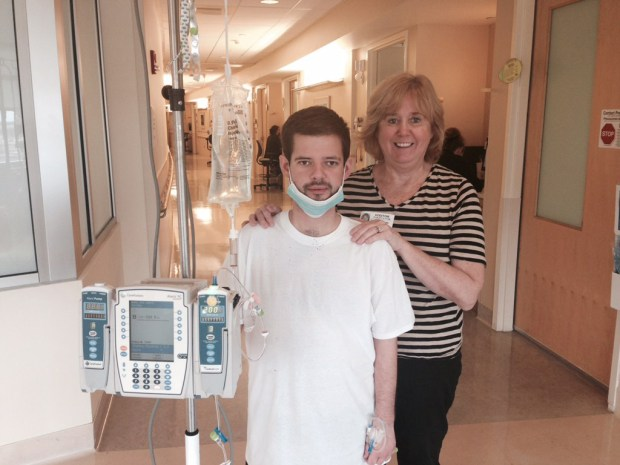 Cindy Jones with her son, Daniel ...