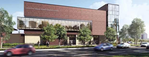 The Lola & Rob Salazar Student Wellness Center will be an 85,000-square-foot facility designed to promote multiple dimensions of student health and wellness.