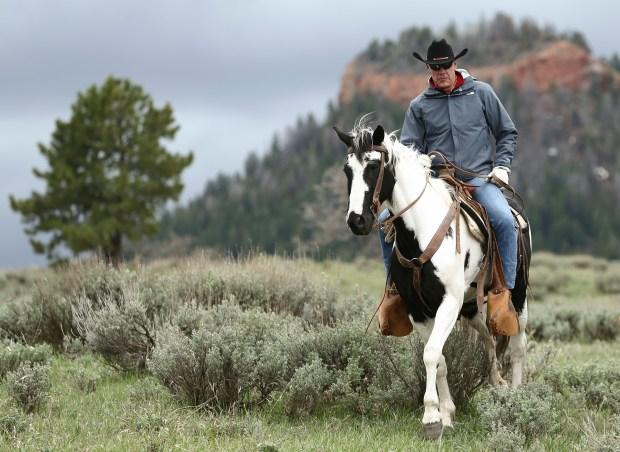 Interior Secretary Ryan Zinke rides ...