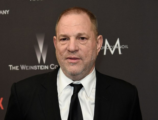Harvey Weinstein arrives at a Golden Globes after-party on Jan. 8.
