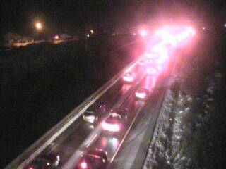 Traffic backed up on Interstate 70 near Empire Junction on Saturday night.