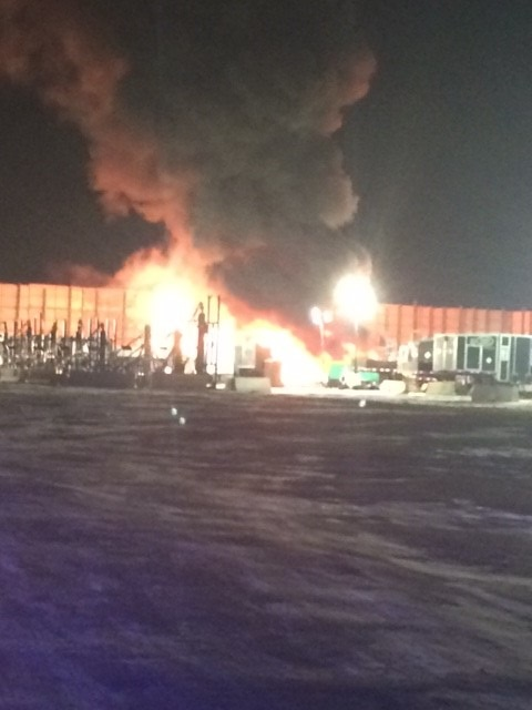 On December 22, 2017, at approximately 8:46 pm, the Weld County Sheriff's Office was dispatched to an oil site fire in the area of HWY 392 and Weld County Road 21, near Windsor, Colorado.