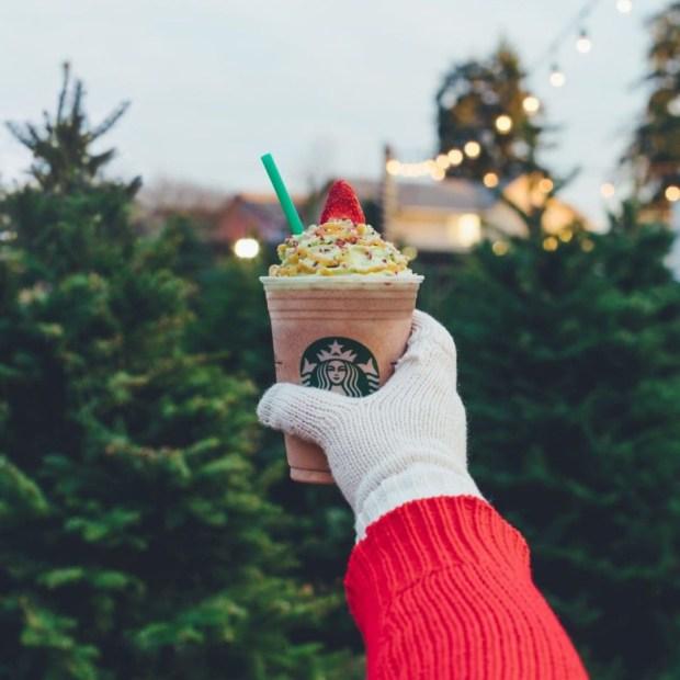 A Christmas Tree Frappuccino.