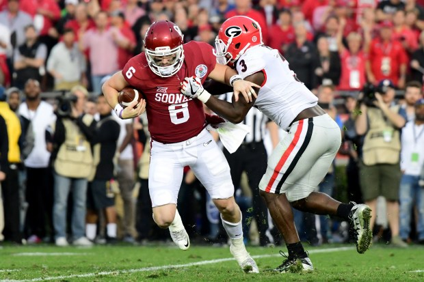 Quarterback Baker Mayfield #6 of the ...