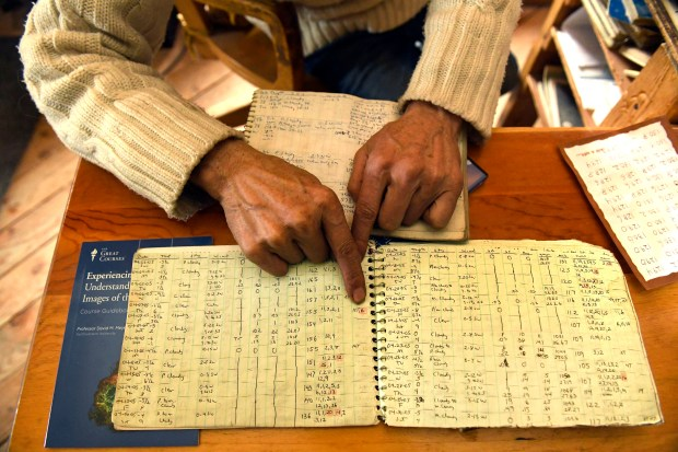Billy Barr has spent the last 46 years in a remote cabin in the snowy woods several miles above Crested Butte. He has kept detailed notes on the temperature and snow levels every day since 1974.