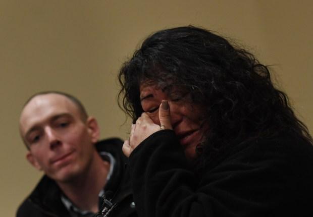Regina Pizarro, who was homeless cries ...