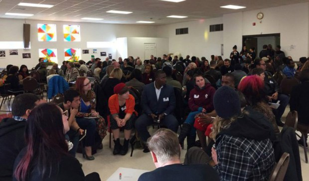 Several hundred people attended a gentrification summit at Shorter Community AME Church in Denver on Jan. 13.
