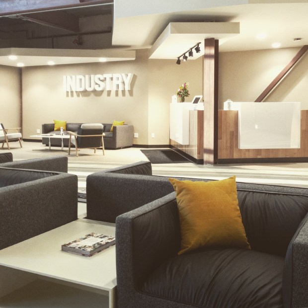 One of the shared common areas inside Industry RiNo Station. The 152,000-square-foot shared office, the second space from the Industry team, opened at 3858 Walnut St. in Denver on Dec. 1, 2017.