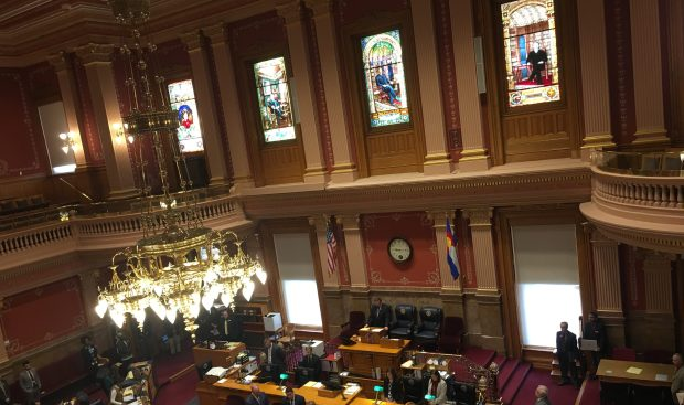 Members of the Colorado Senate recognize slain Deputy Heath Gumm on Thursday morning.